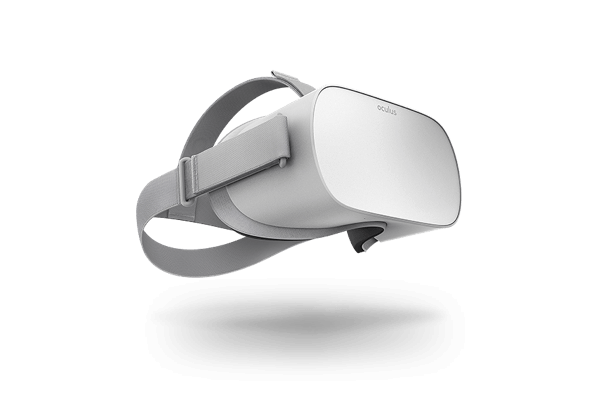 An Oculus Go virtual reality headset