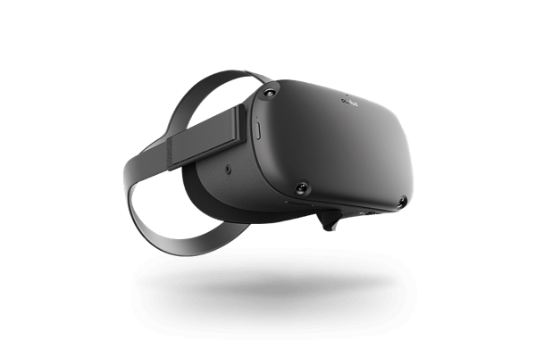 An Oculus Quest virtual reality headset.