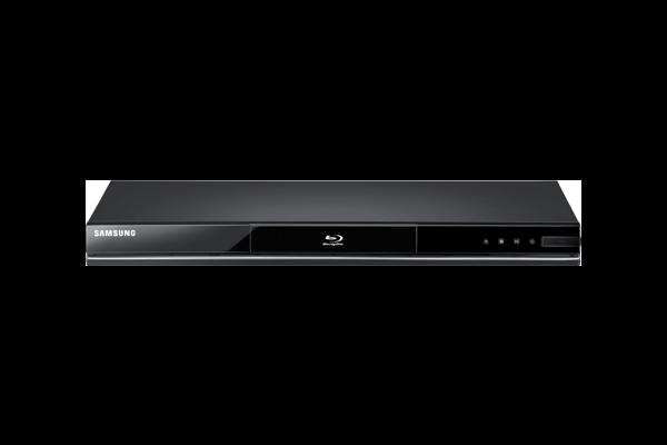 A Samsung Blu-Ray player.
